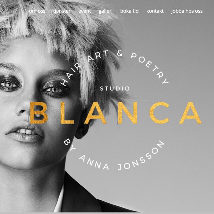 Branding/logotyp: Blanca