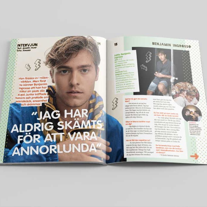 Magasinlayout Kupé junior