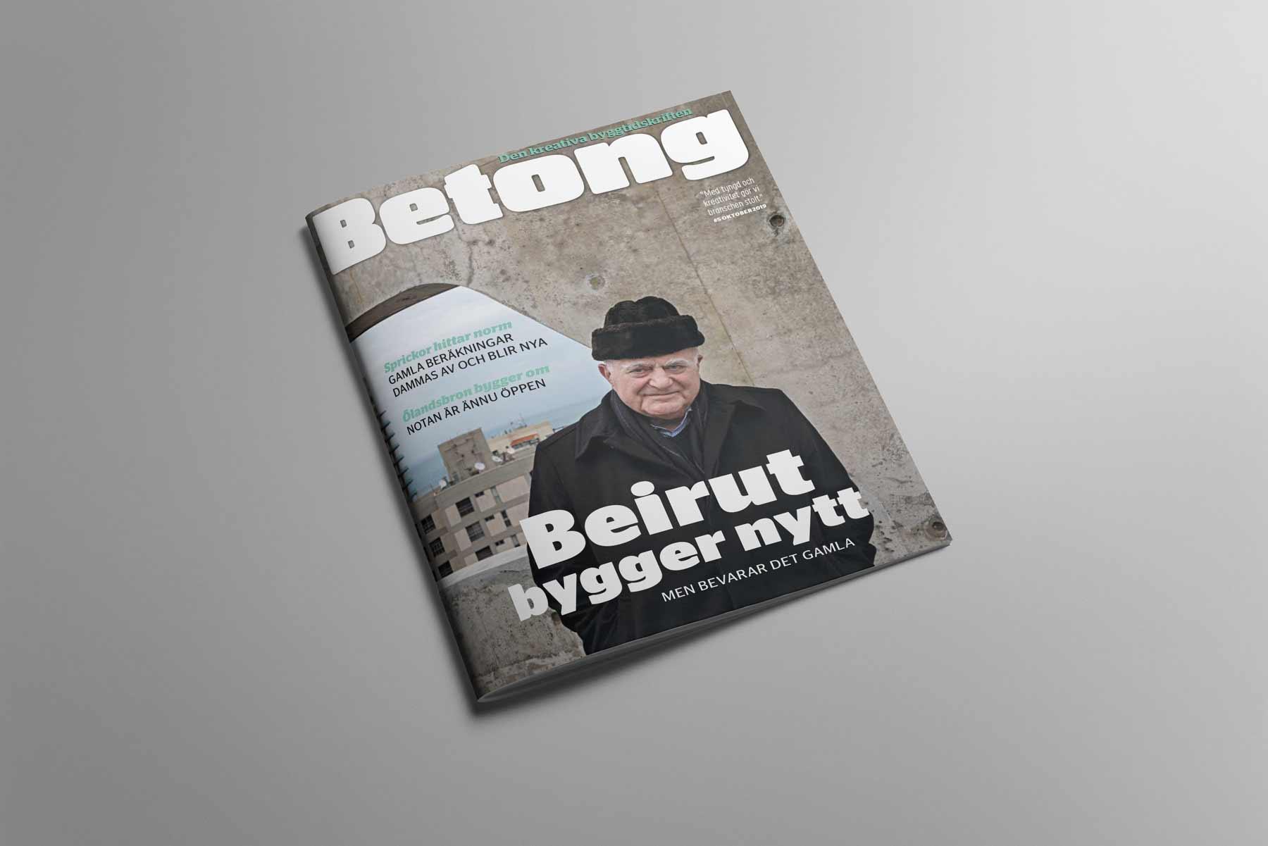Omslag tidskriften Betong nr 5 2019