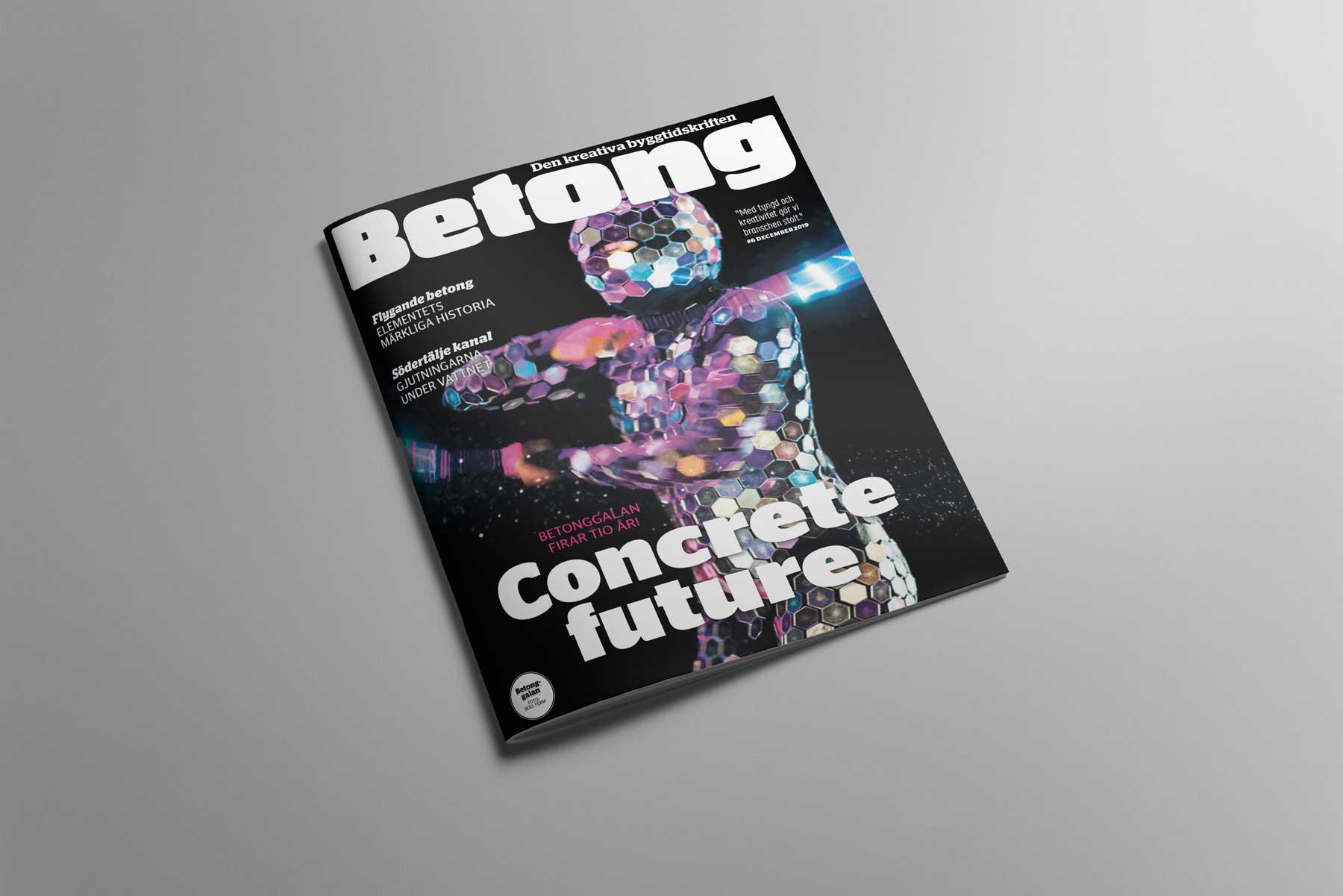 Omslag tidskriften Betong nr 6 2019
